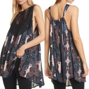NEW Free People Count Me In Trapeze Top